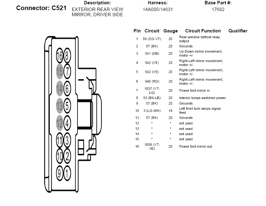 2016 Diagram F150 View Wiring Rear Mirror