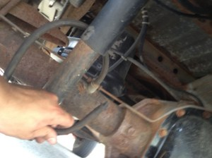 2001 Ford F150 Rubber Tube Hanging off Rear Axle  Ford