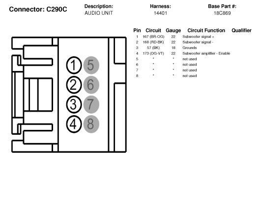 Need Pin Out For The Audiophile Subwoofer Plug