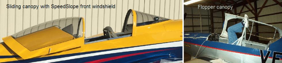 F1 Rocket F4 Raider canopy choices