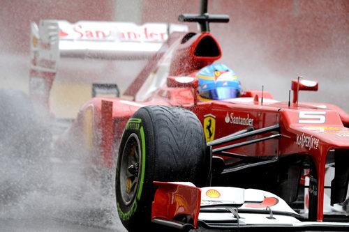 Alonso rodando en los test de Mugello