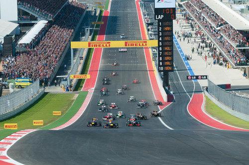 Salida del Gran Premio de EE.UU