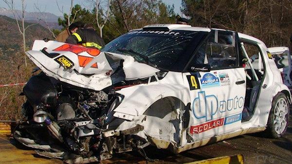 Así ha quedado el coche de Kubica tras el accidente