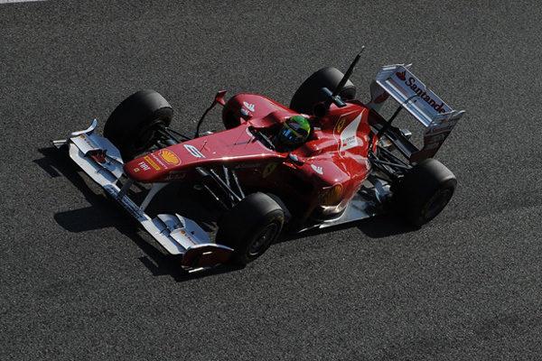 Massa rodando en Jerez