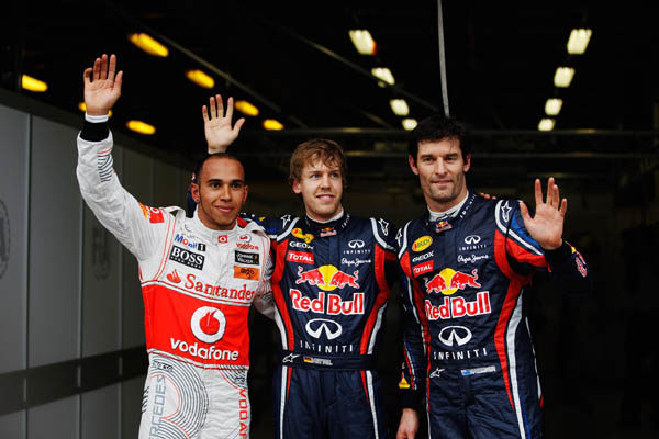 Hamilton, Vettel y Webber són los 3 primeros de la parilla para mañana