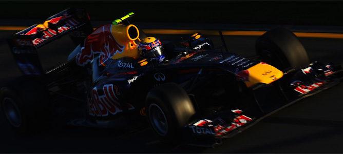 Webber rodando en Malasia