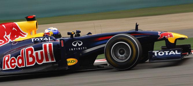 Vettel rodando durante la clasificación en China