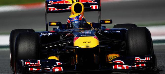 Webber durante los Libres 2 de Montmeló