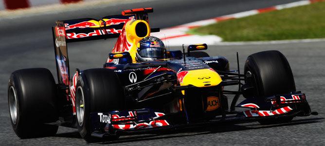 Vettel durante la carrera del GP de España