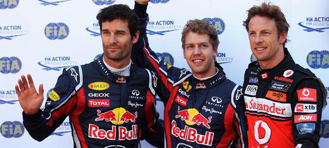 Vettel al centro en la pole