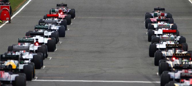 Parrilla de salida del Gran Premio de Gran Bretaña