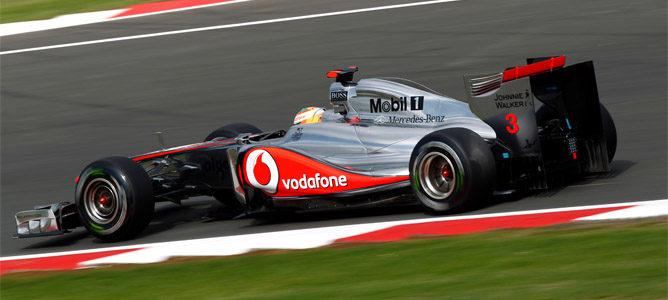 Hamilton rodando en los Libres 1 de Hungaroring