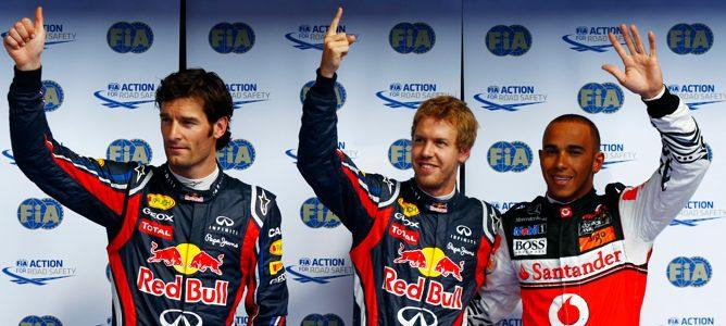 Vettel, Hamilton y Webber, los tres primeros de la parrilla