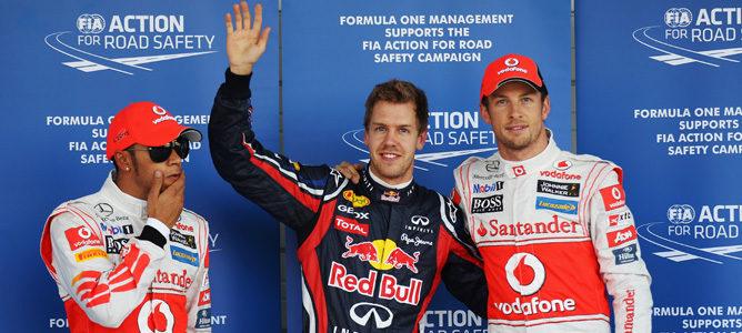 Vettel, Button y Hamilton, los tres primeros en la parrilla de salida