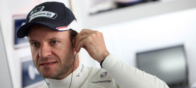 Barrichelo en el box de Williams durante la temporada 2011 de F1
