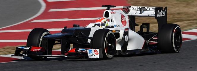 Pérez rodando hoy en pista