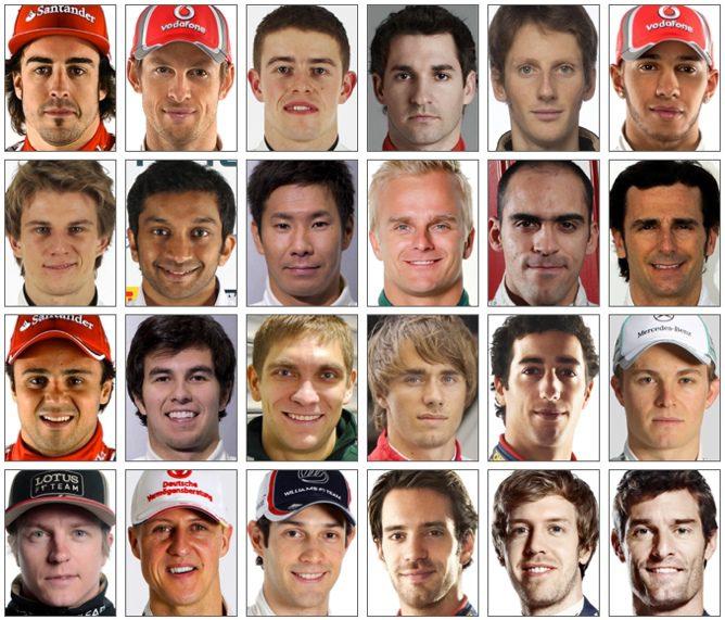 Pilotos de la temporada 2012