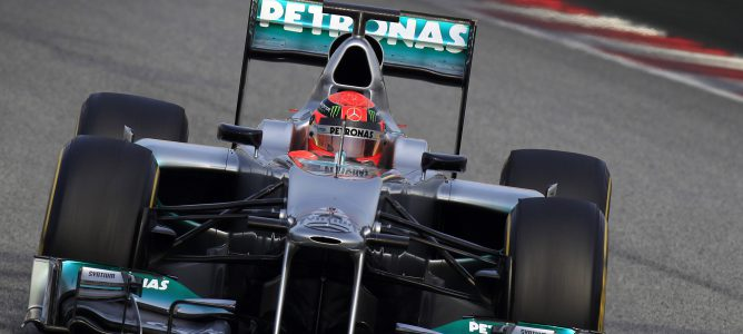 Schumacher rodando en lo Libres 2 de Melbourne