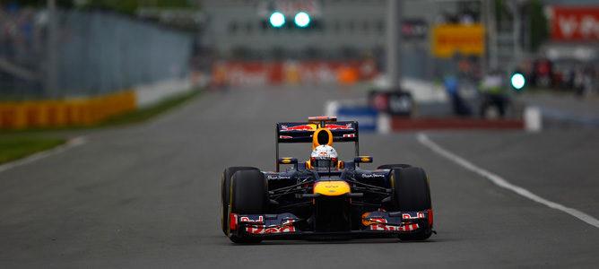 Vettel rodando en los Libres 3 de Canadá