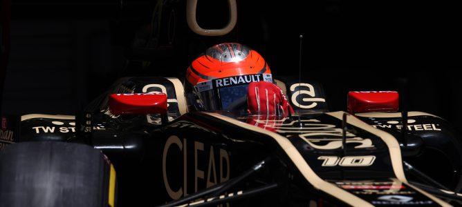 Grosjean rodando en pista
