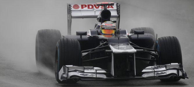 Maldonado rodando en pista