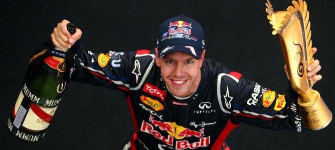Vettel en el podio