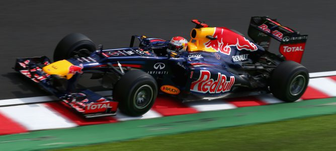 Vettel rodando en pista