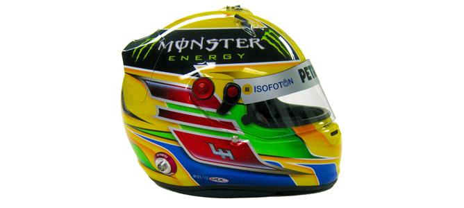 Hamilton desvela su nuevo casco para la temporada 2013