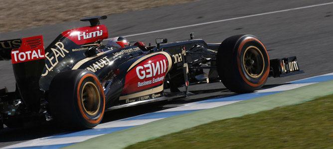 Räikkönen rodando en pista