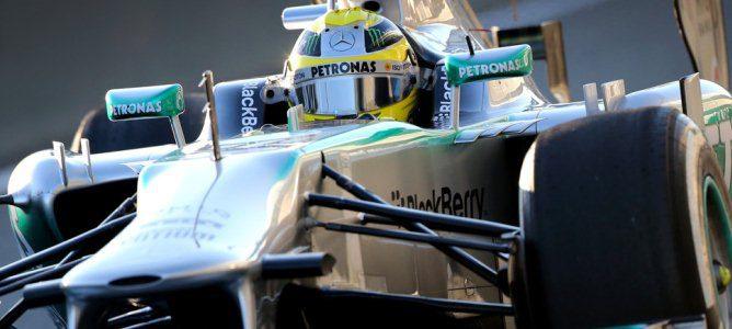 Rosberg rodando en pista
