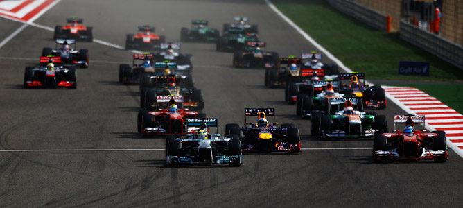 Salida del Gran Premio de Bahréin 2013