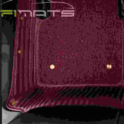 Stripe Car Mats Maroon and Red Floor Set
