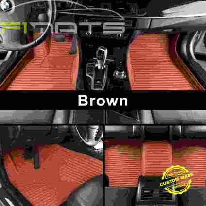 Brown Luxury Stripe Car Mats