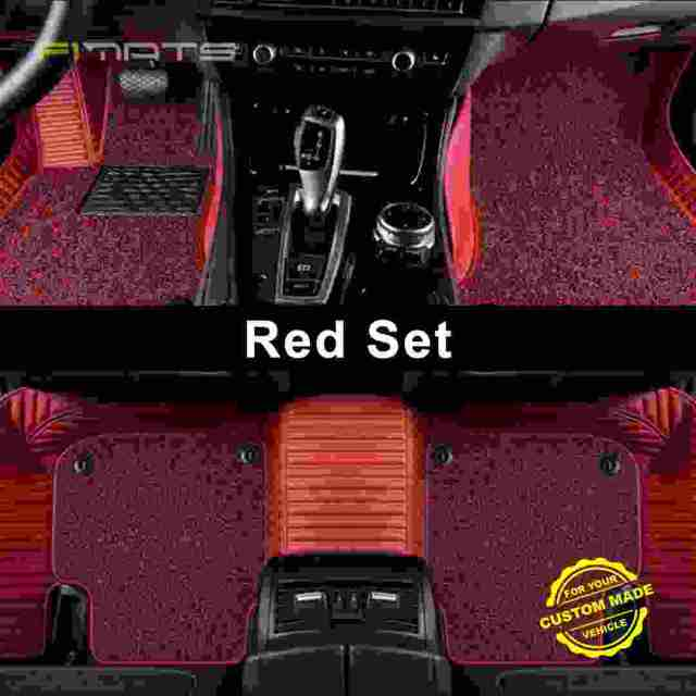 Red Luxury Double Stripe Car Mats