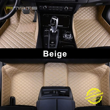 Beige Luxury Diamond Car Mats
