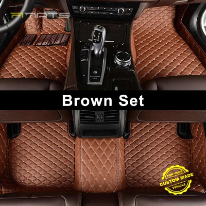 Brown Luxury Diamond Car Mats