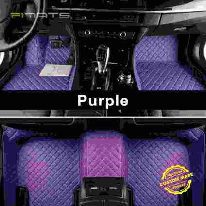 Purple Luxury Diamond Car Mats