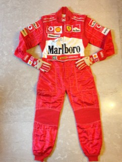 Barrichello 2004 suit and gloves