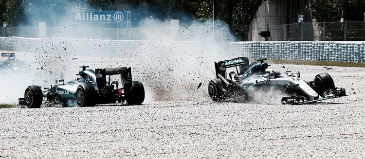 """Barcellona, perché tra Hamilton e Rosberg è """"incidente di gara ..."""
