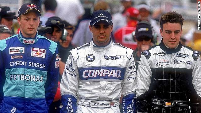Kimi Raikkonen, Fernando Alonso e Juan Pablo Montoya