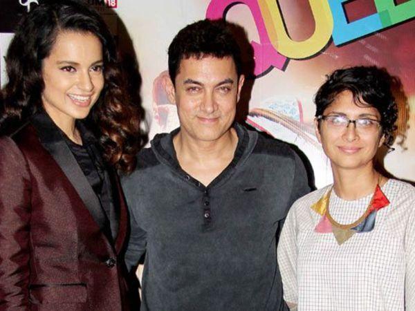 Kangana Ranaut Reacts On Aamir Khan Kiran Rao's