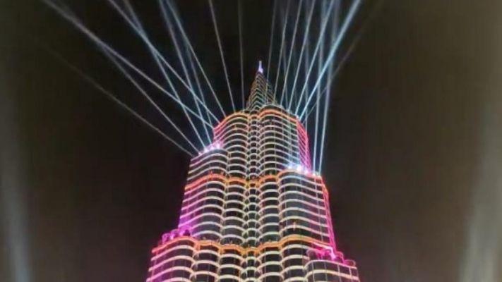 Burj Khalifa's grand pandal in Durga Puja