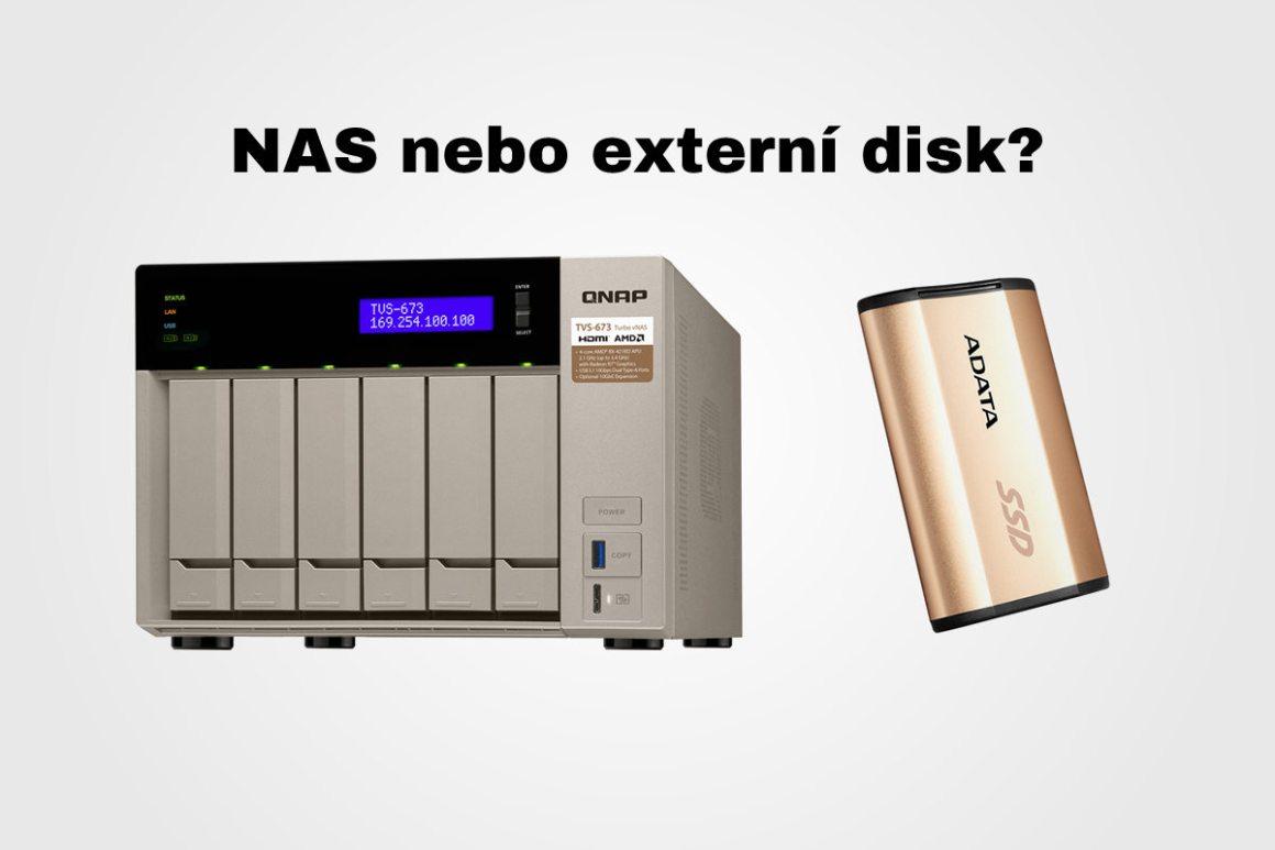 NAS nebo externí disk -- f22.cz