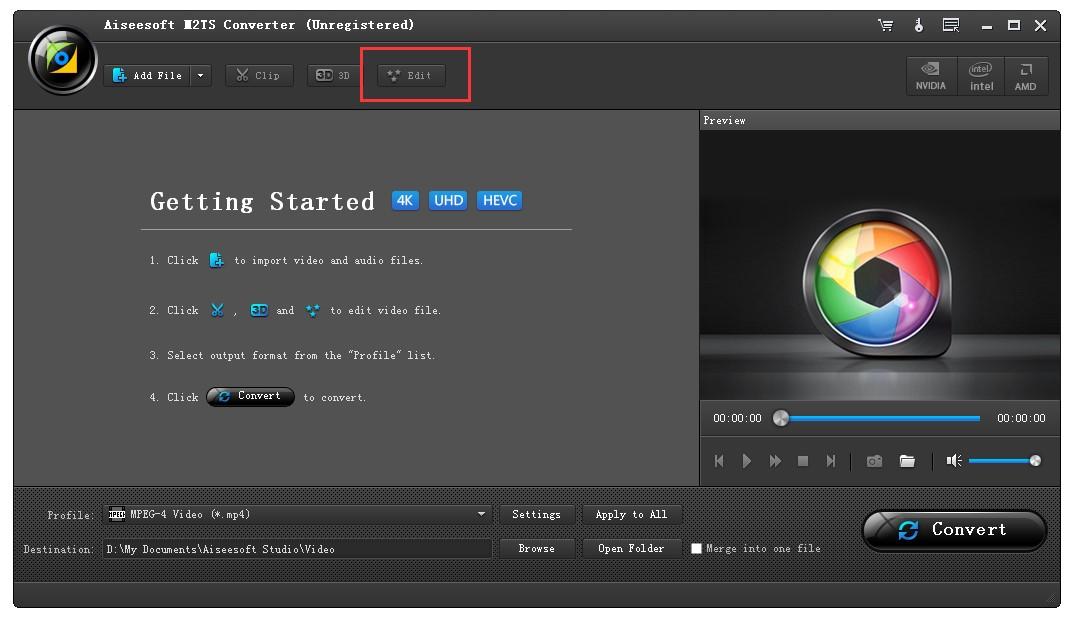 M2TS Converter Video Effect Edit