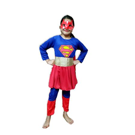 Kids Super Girl Fancy Dress Costume on Rent.