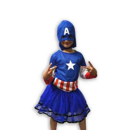 Hire Captain America Girl Costume