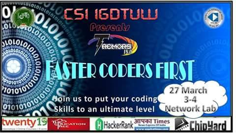 faster coders first