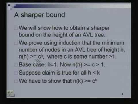 Introduction to AVL Trees  Data Structures and Algorithms Lecture – 7