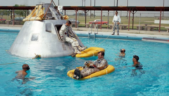 The Apollo 1 crew in training, we wonder if they pondered the question of prahps (or praps) going into space