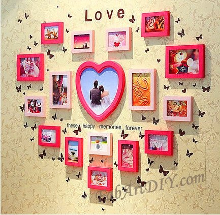 View In Gallery Diy Clock With Photo Frames